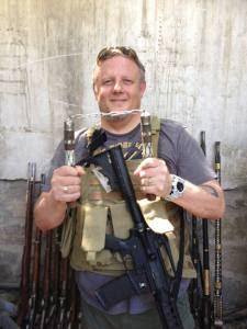 Wes on deployment in Afghanistan