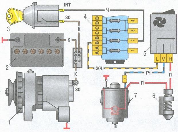 статья про электродвигатель вентилятора отопителя салона ВАЗ 2106 - устройство, особенности конструкции