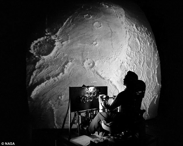Astronauts Neil Armstrong, Buzz Aldrin and Jim Lovell would have sat in this early simulator while they accustomed themselves to the surface of the moon