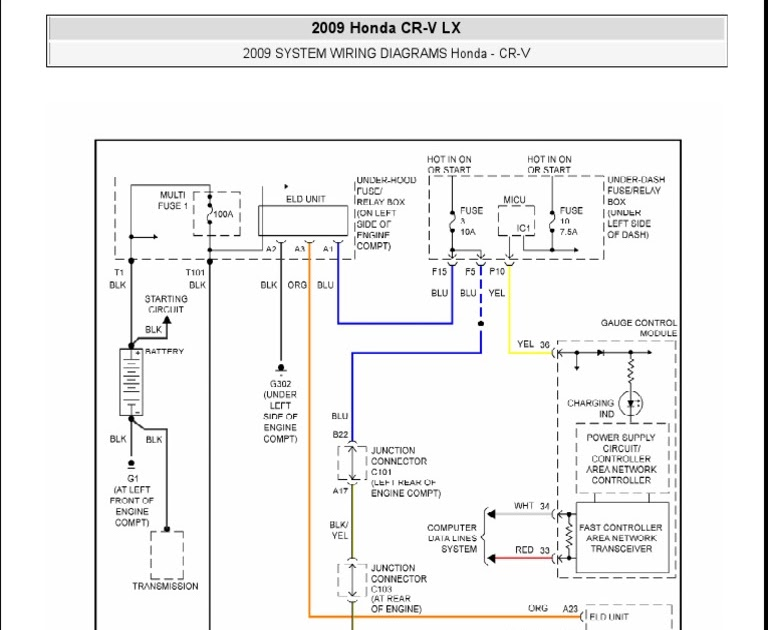 2011 Honda Cr V Wire Diagram