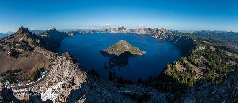 Crater Lake Aerial View