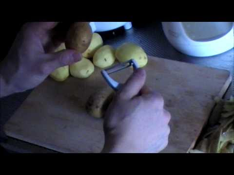 Fast potato peel with normal peeler