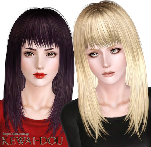 Cecile.K Long (Hair for The Sims3) | KEWAI-DOU