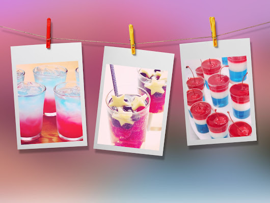 It's 4th Of July Weekend!! Try These Yummy Red, White &  Blue Cocktail Recipes!
