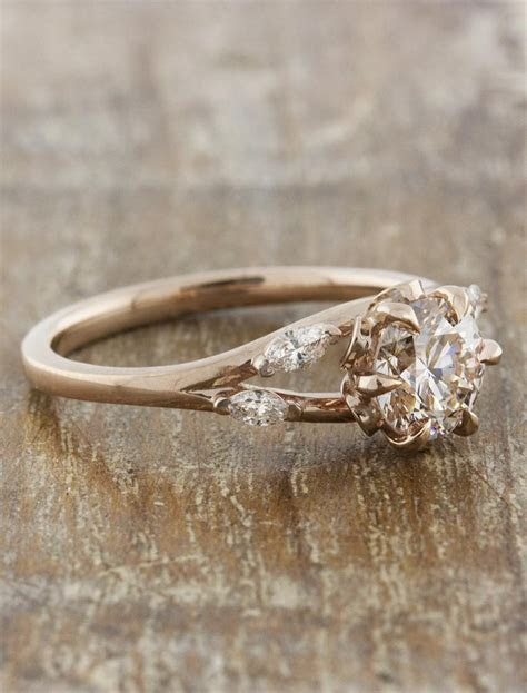Anya: Nature Inspired Rose Gold Engagement Ring   Ken