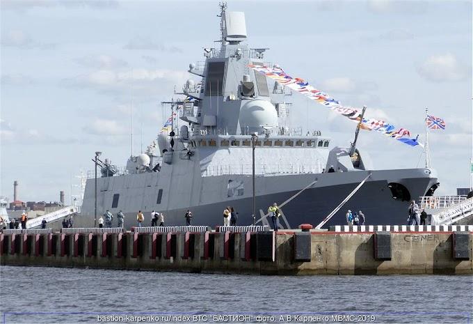 Será lançada em breve a fragata Almirante Golovko da Marinha Russa