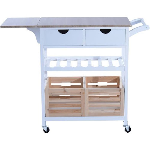 drop leaf kitchen cart Hom34 in. Rolling Drop Leaf Kitchen Trolley Serving Cart with  drop leaf kitchen cart