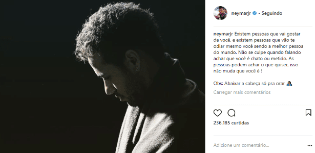 Alvo De Críticas Neymar Escreve No Instagram Podem Achar O Que