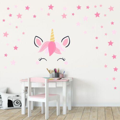 Dekoration Kinderzimmer Madchen Deko 144 Wandtattoo Einhorn Sleepy Eyes Sterne Rosa Pink Mobel Wohnen Hsdsonline Com