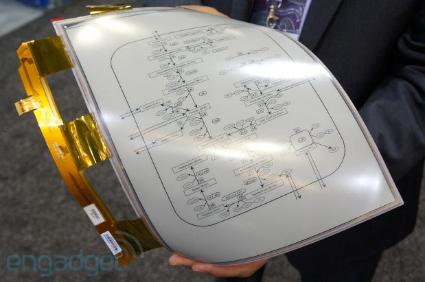 DNP  Sony's 133inch Digital Paper prototype sports E Ink's Mobius flexible display, we go handson