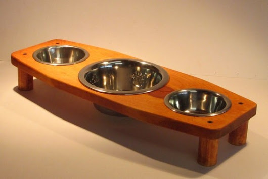 4 Bowl pet feeding stand. Small Large Large Small