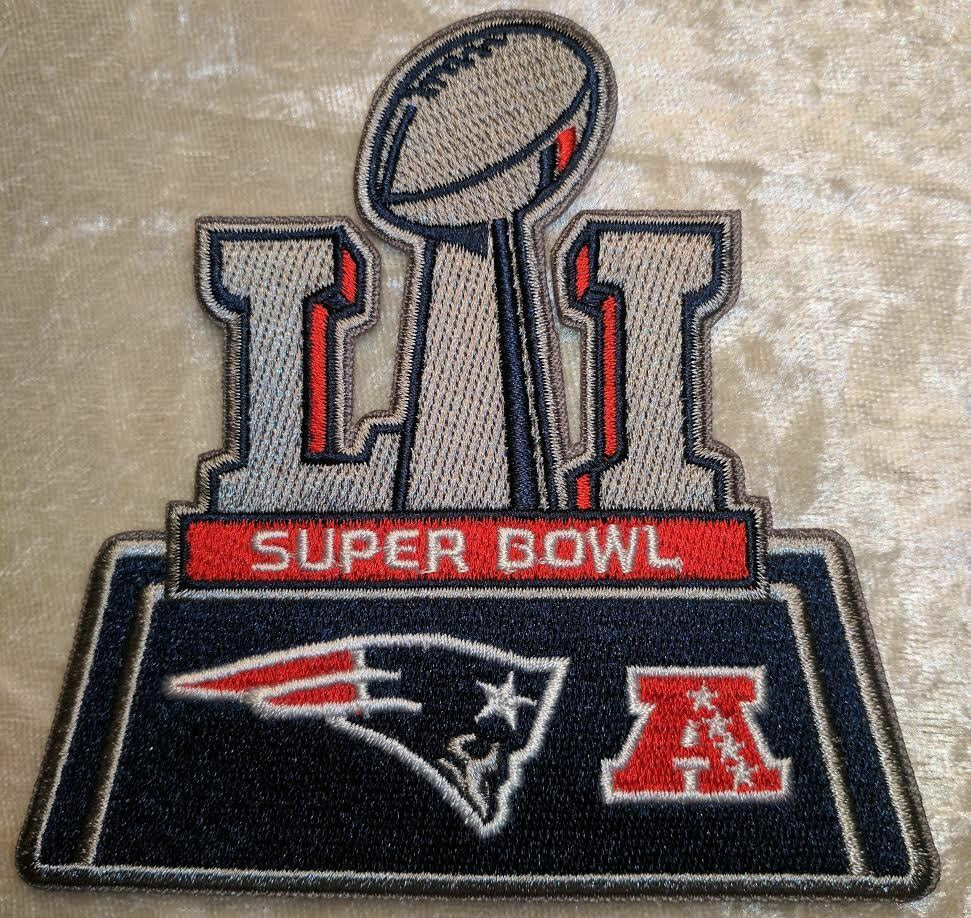 Super Bowl LI 51 New England Patriots NFL Iron On Embroidered Patch ~US Seller  eBay