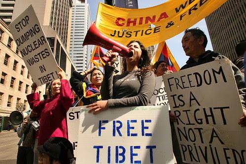 CHINA HU PROTESTS