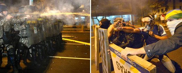 Bombas explodem em protesto no Rio (Bombas explodem em protesto no Rio (AFP))