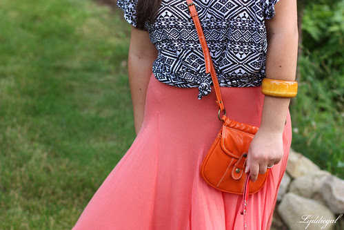 Coral and Orange bag