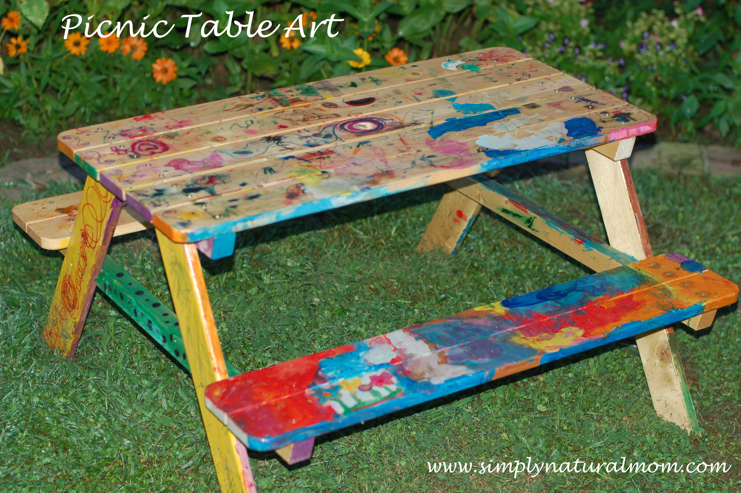 Picnic Table Art Such A Fun Kid Art Project Simply Natural Mom
