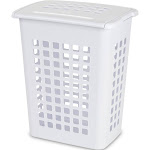 Sterilite Rectangular Laundry Hamper, White