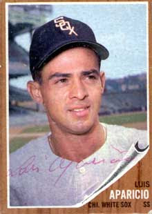 Image result for luis aparicio baseball card