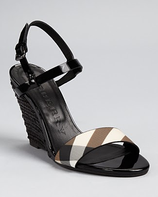 Burberry Liverpool Nova Stripe Espadrille Wedges