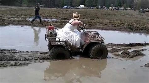 Jess goes mudding in her wedding dress   YouTube