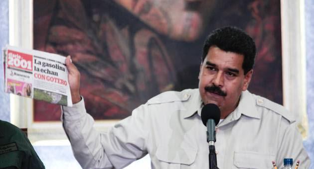 Maduro denuncia guerra psicológica promovida por medios de comunicación