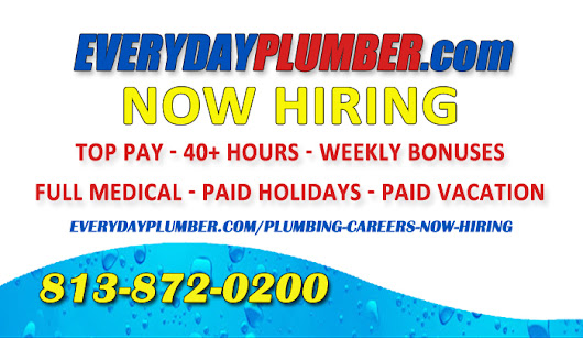 Now Hiring - Tampa Plumbing Co. - Plumbing Careers