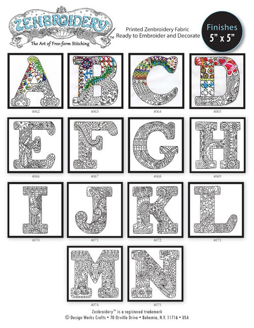 Design Works - Zenbroidery Alphabet Letters