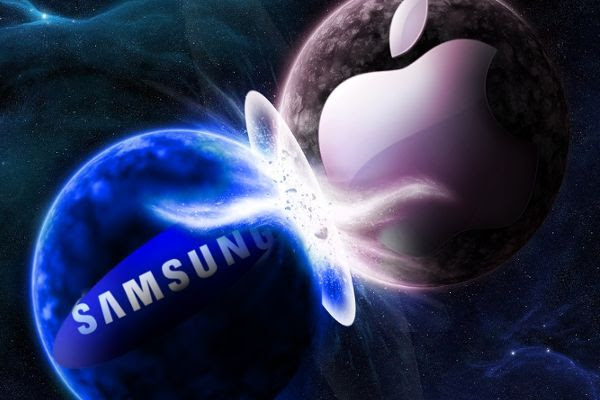 Samsung vs Apple - imagem retirada do Google