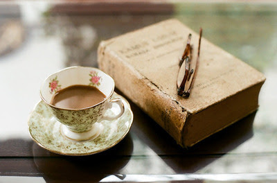 book, coffee, cup, glasses, tea, teacup