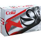 Diet Coke Soda - 24 pack, 12 fl oz cans