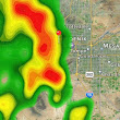 Severe Thunderstorm Warning in Central Arizona