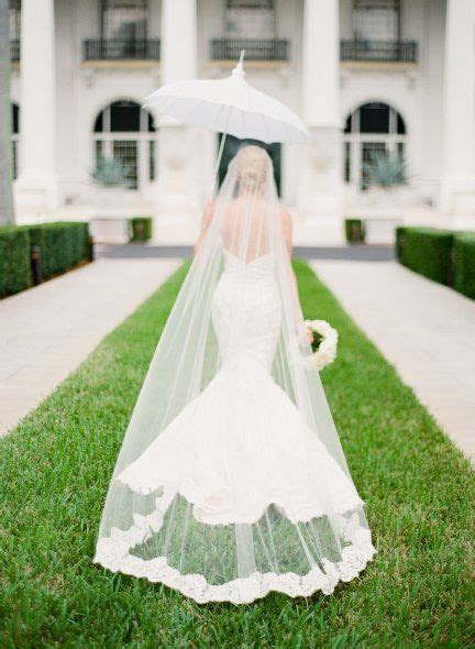 Love the cathedral length veil and the mermaid gown