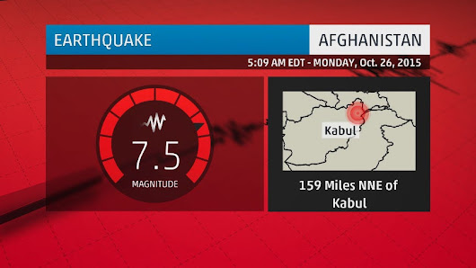 Afghanistan, Pakistan Rocked by 7.5-Magnitude Earthquake; At Least 43 Deaths Reported