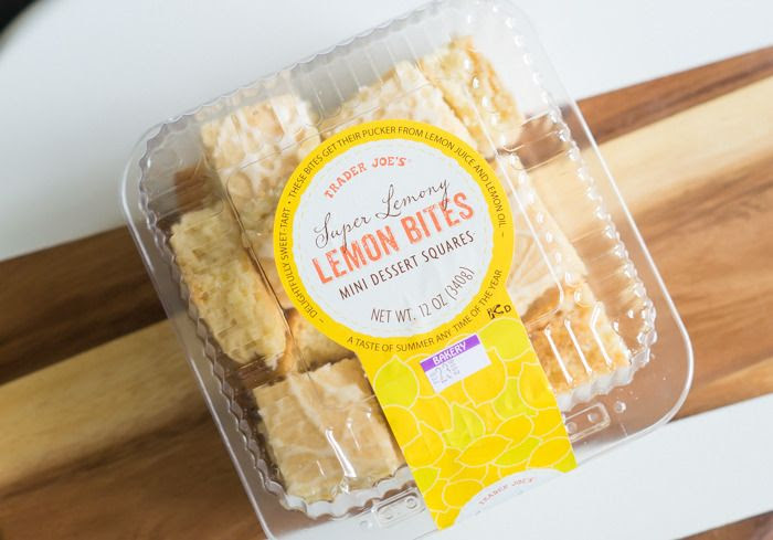 trader joe's super lemony lemon bites review : part of a weekly review series of tj's desserts and treats