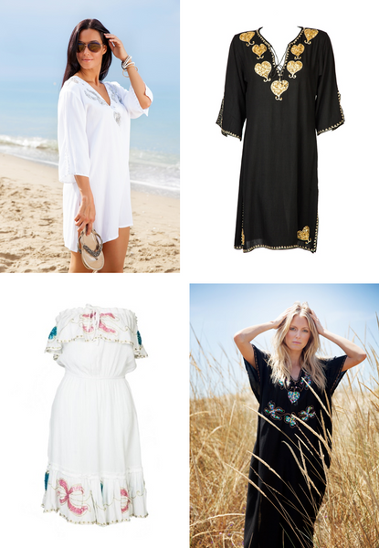 What To Pack: Timeless Holiday Pieces, essential women's designer beachwear – Designer Kaftans | Beach Kaftans XS-4XL | Beachwear Coverups by Designer MyaBlueBeach