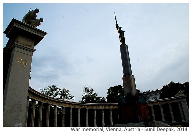 War memorials to remember soldiers - Images by Sunil Deepak, 2014