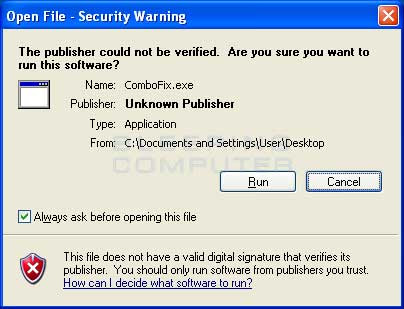 Windows Open File Security Warning