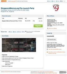 SingaporeMemory.sg Pre-Launch Party - Eventbrite