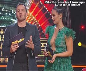 Rita Pereira decote super sensual no Dança com as estrelas