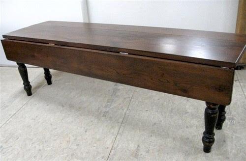 Rustic Old Oak Drop Leaf Farm Table With Black Legs  Farmhouse  Dining Tables  boston  by