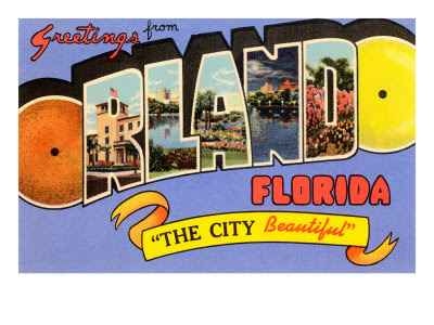 Postcard from Orlando - Image Courtesy of AllPosters.com
