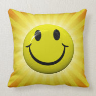 Happy Smiley Face Pillow throwpillow