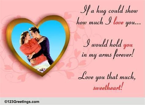 Hold You In My Arms! Free Online Romance Week eCards