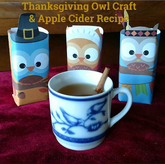 Thanksgiving Owl Craft and Apple Cider Recipe #FamilyTime #JuicyJuiceCrew | Bicultural Mama