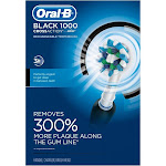 Oral-B Black Pro Crossaction 1000 Rechargeable Electric Toothbrush