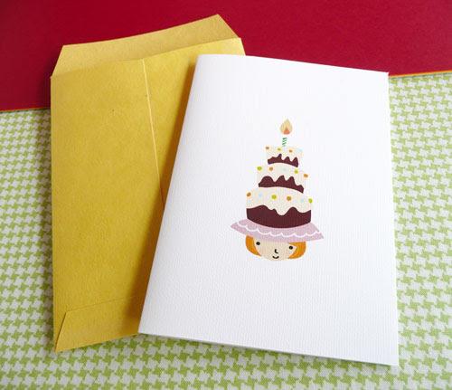 upcoming birthday girl mini card