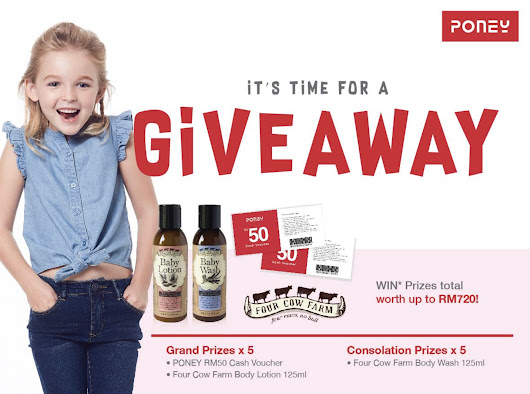 #Win Body Lotion/Wash from Poney #Malaysia - #GIFTOUT #FREE #GIVEAWAYS | #Singapore | #Malaysia | #USA | #Korea | #Worldwide