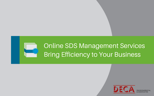 Online SDS Management Services Bring Efficiency to Your Business