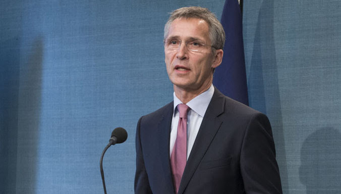 Joint press point with NATO Secretary General Jens Stoltenberg and Mark Rutte, Prime Minister of the Netherlands