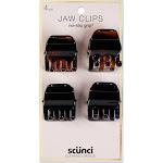 Conair Scunci 3cm No Slip Jaw Clips - 4pk, Black